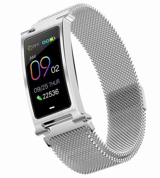 Фитнес браслет Smart Band ST F8 Bluetooth 5.0 Тонометр Серебристый (SBF8BT5S)