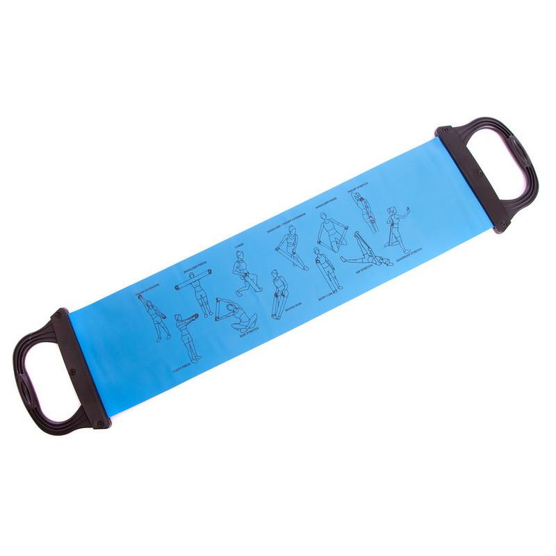 Лента для пилатеса с ручками (эластичная лента) 0,75м. FI-2065B