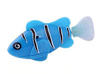 Двигающаяся рыбка Robofish на батарейках Маленькая  Синий