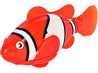 Двигающаяся рыбка Robofish на батарейках Маленькая  Красный