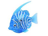 Двигающаяся рыбка  Robofish на батарейках Большая  Голубой
