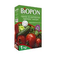 Удобрение гранулированное BIOPON для томатов, огурцов и овощей 1 кг