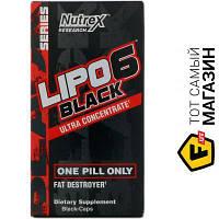 Жиросжигатель Nutrex Research Lipo-6 Black Ultra Concentrate 30 капсул