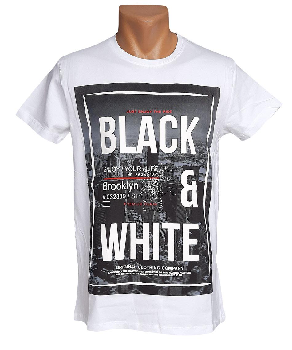 Белая хлопковая футболка Highlander - №5937