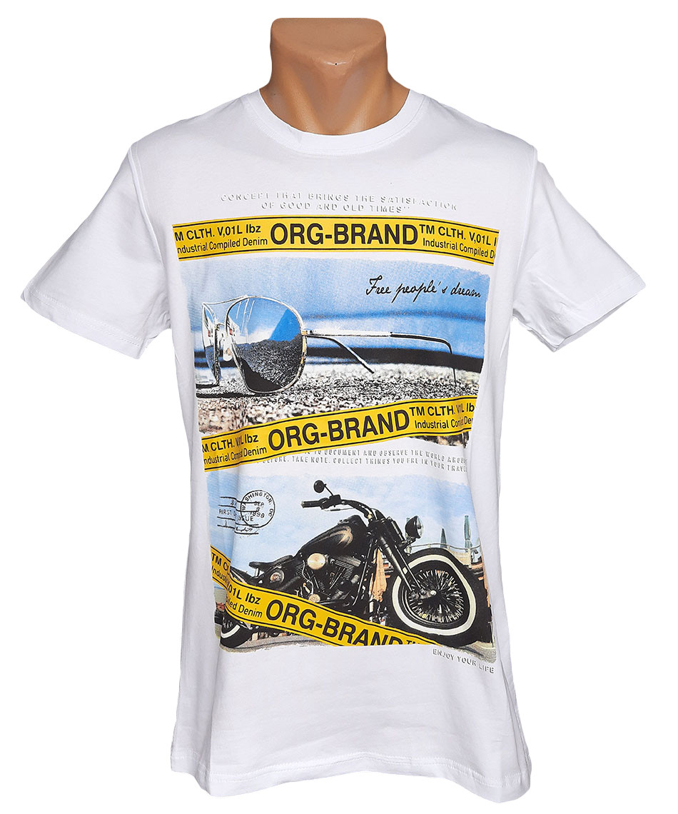 Мужская пляжная футболка Daniel and Jones - №5964