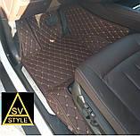 Оригинальные Коврики на BMW X3 F25 Кожаные 3D (2010-2017) с текстильными накидками, фото 6