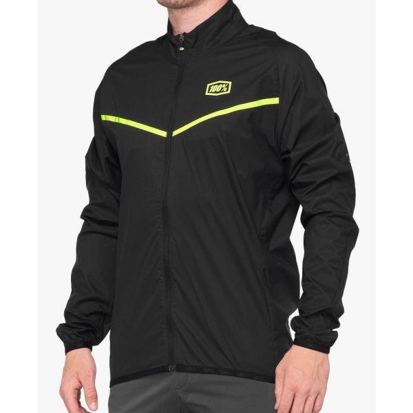 Куртка Ride 100% CORRIDOR Stretch Windbreaker [Black], XL
