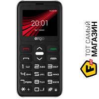 Ergo Solace F186 Dual Sim Silver мобильный телефон для пожилых людей, недорогие классический EDGE серый