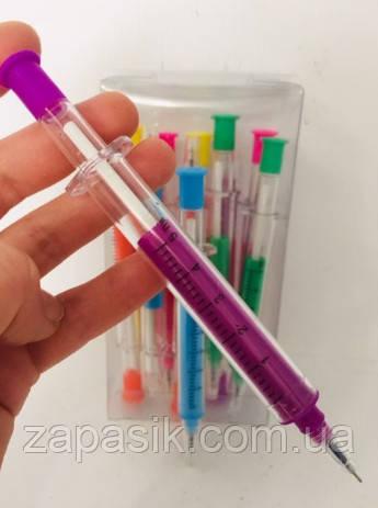 Шариковая Ручка Шприц Оригинальная Ручка Ручка В Форме Шприца Цвет В Ассортименте