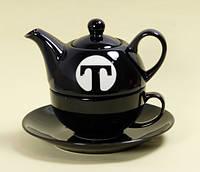 """""""Чай для одного """"Т"""" набор Черный"""