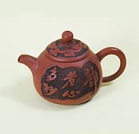 """Чайник """"Лист"""" из исинской глины 200 мл."""