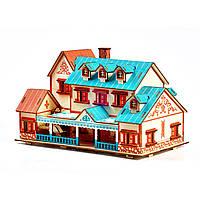 Деревянные 3D пазлы . Трехмерный конструктор-головоломка 29.3 см * 16.8 см * 18 см . Деревянный конструктор