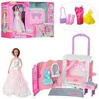 Чемодан спальная комната для куклы типа барби