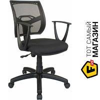 Офисное кресло с высокой спинкой ткань Примтекс плюс Line GTP С-11/M-01 черный
