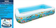 Детский надувной бассейн Intex 58485 «Тропический риф», 305 х 183 х 56 см