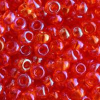 Бисер Preciosa Чехия №91030 1г, оранжевый, прозрачный, глянцевый, радужный