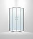 Душевая кабина Dusel А-513, 90х90х190, двери раздвижные, стекло шиншилла, фото 2