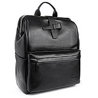Рюкзак стильный черный кожаный BRETTON (36*29*15 см) BP 2004-7 black
