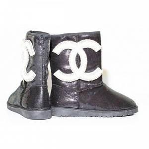 Угги Женские Chanel Sequins Black 15Bk 36 р. (B2)