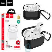 Bluetooth наушники с микрофоном Hoco ES38 + black silicone case белые