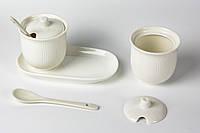 Набор сахарниц керамический с крышкой и ложкой