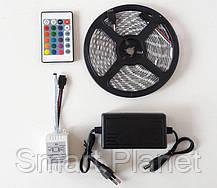 Разноцветная RGB  5050 LED лента 5м с пультом ДУ и Блоком Питания (ВидеоОбзор), фото 3