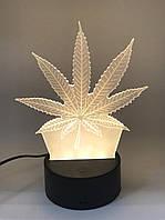 3D светильник-ночник Марихуана UTM