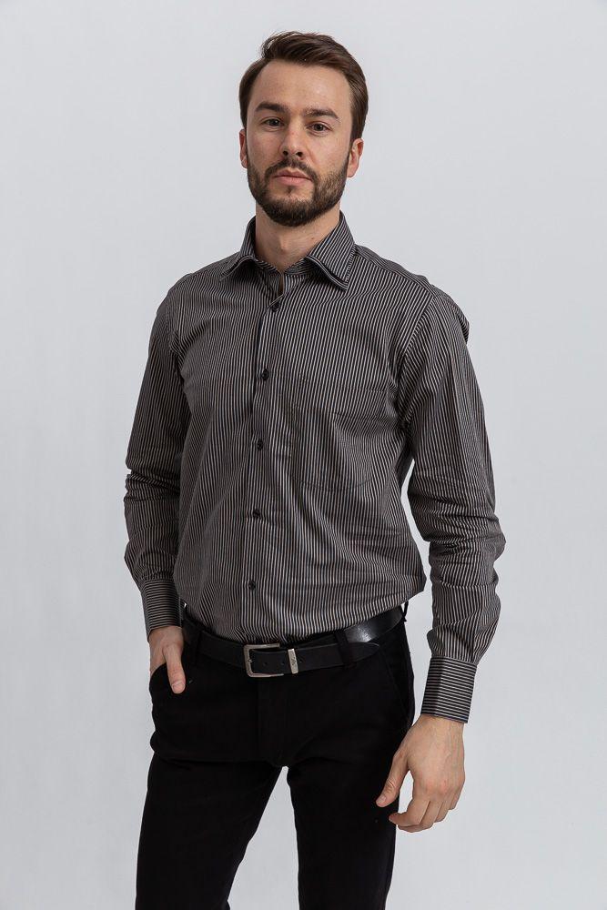 Рубашка 113RPia60 цвет Черно-коричневый