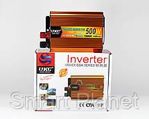 Преобразователь 500W Инвертор с 24в на 220в, фото 3