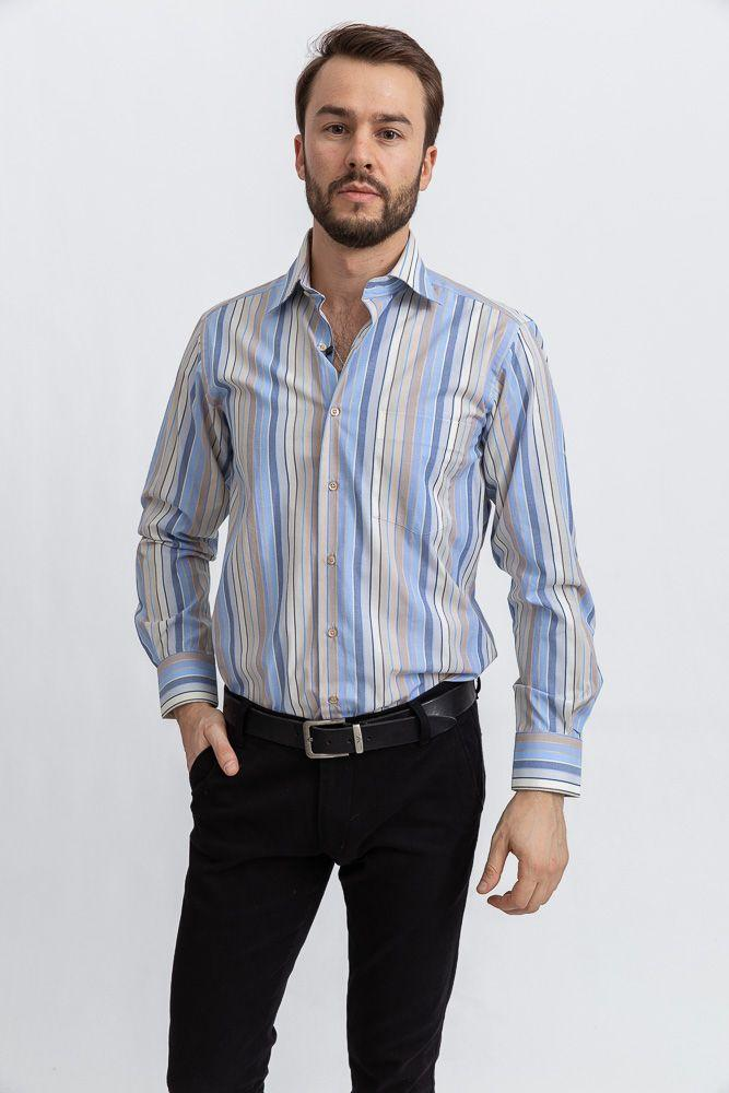 Рубашка 113RPia54 цвет Молочно-голубой