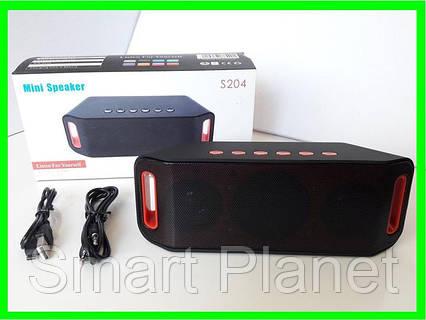 Портативная Bluetooth-FM-Колонка (model-204), фото 2