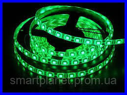 LED Ленты (5050) Green - Зелёный длинна 5 метров Лед (ВидеоОбзор)