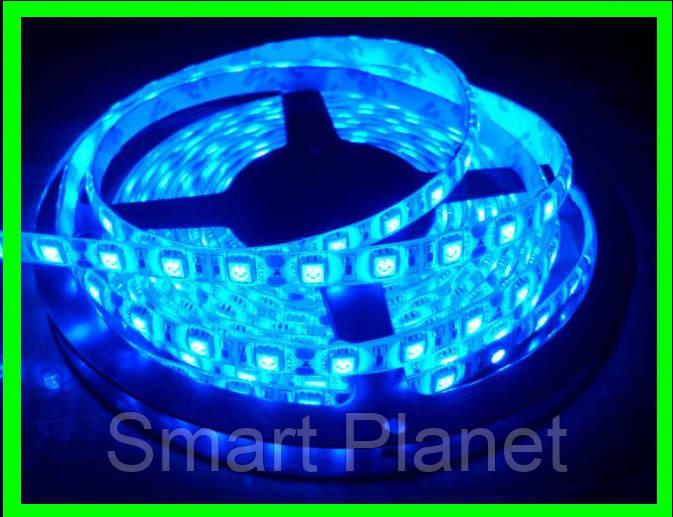 LED Ленты (5050) Blue - Голубая - Синий длинна 5 метров Лед (ВидеоОбзор)