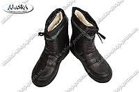 Мужские резиновые сапоги черные (Код: Б-01)