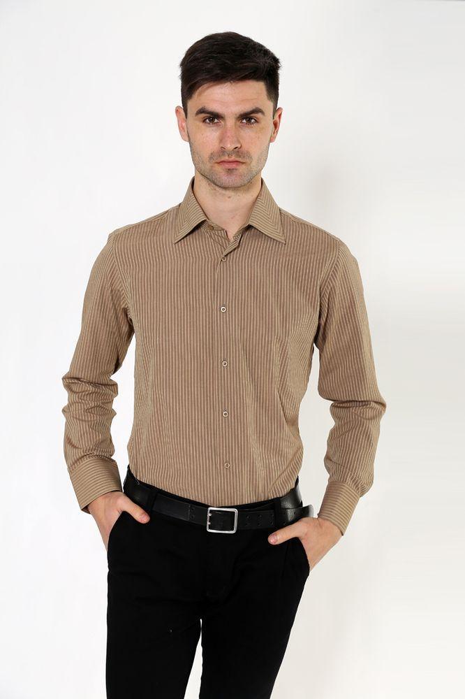 Рубашка 113RPass002 цвет Кофейный