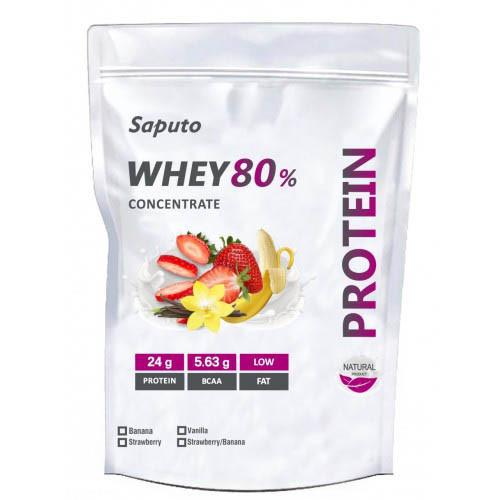 Протеин Saputo Whey Concentrate 80%, 2 кг Шоколад