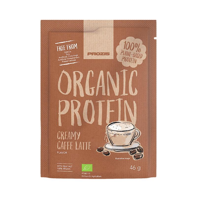 Протеин Prozis Organic Vegetable Protein, 46 грамм Кофе крем