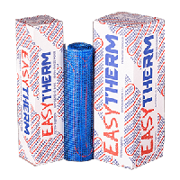 Теплый пол под плитку Easytherm-200 100 Вт 0,5 м2 двужильный нагревательный мат