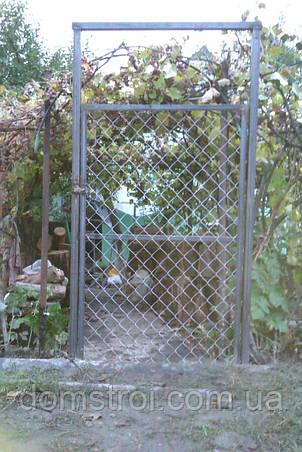Установка калиток из сетки рабицы, фото 2