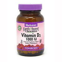 Витамины и минералы Bluebonnet Earth Sweet Chewables Vitamin D3 1000 IU, 90 жевательных таблеток