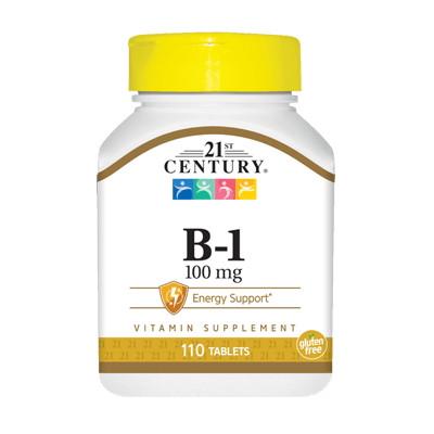Витамины и минералы 21st Century B1 100 mg, 110 таблеток