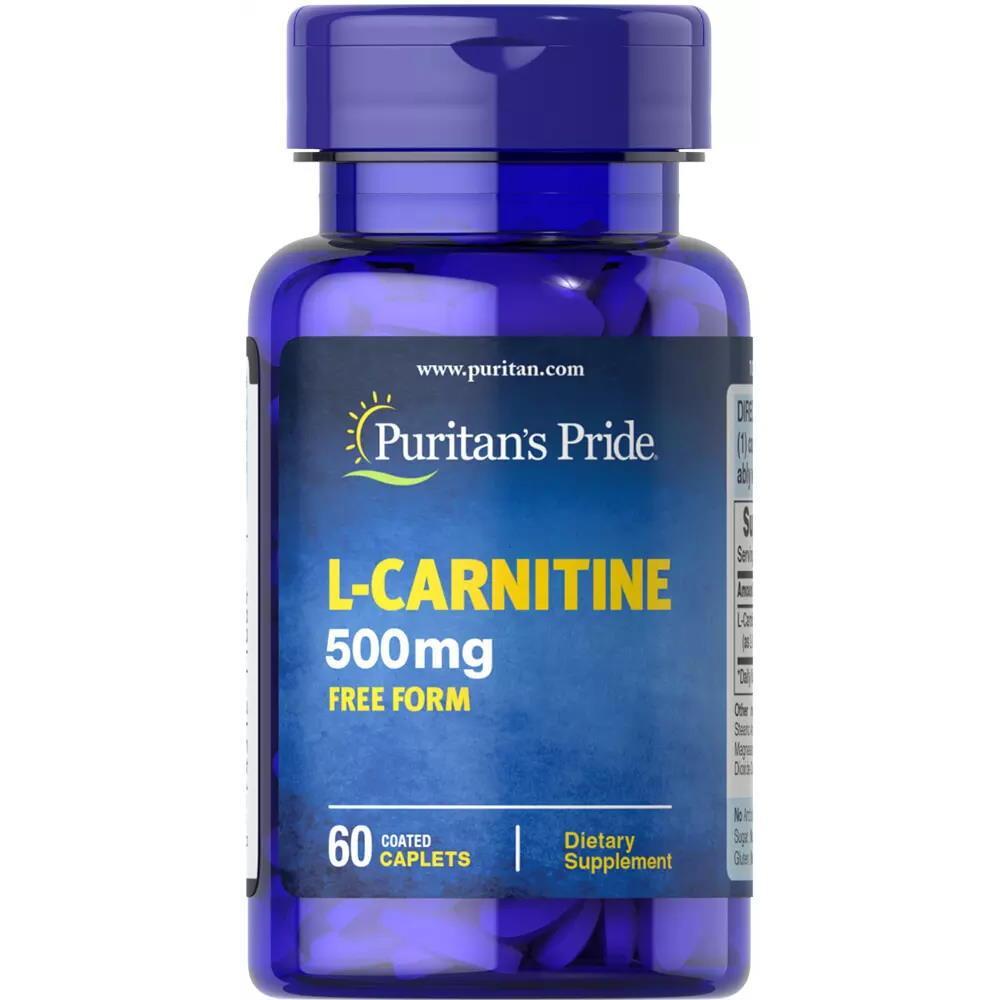 Жиросжигатель Puritan's Pride L-Carnitine 500 mg, 60 капсул