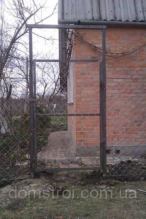 Установка калиток из сетки рабицы, фото 3