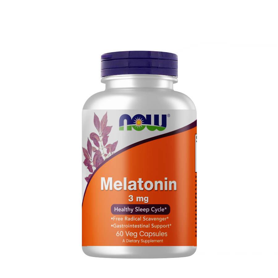 Восстановитель NOW Melatonin 3 mg, 60 вегакапсул