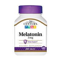 Восстановитель 21st Century Melatonin 3 mg, 200 таблеток