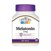 Восстановитель 21st Century Melatonin 5 mg, 120 таблеток