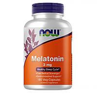 Восстановитель NOW Melatonin 3 mg, 180 вегакапсул