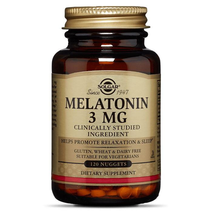 Восстановитель Solgar Melatonin 3 mg, 120 таблеток