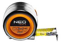 Рулетка NEO компактная стальная лента 5 м x 25 мм, с фиксатором selflock, магнит