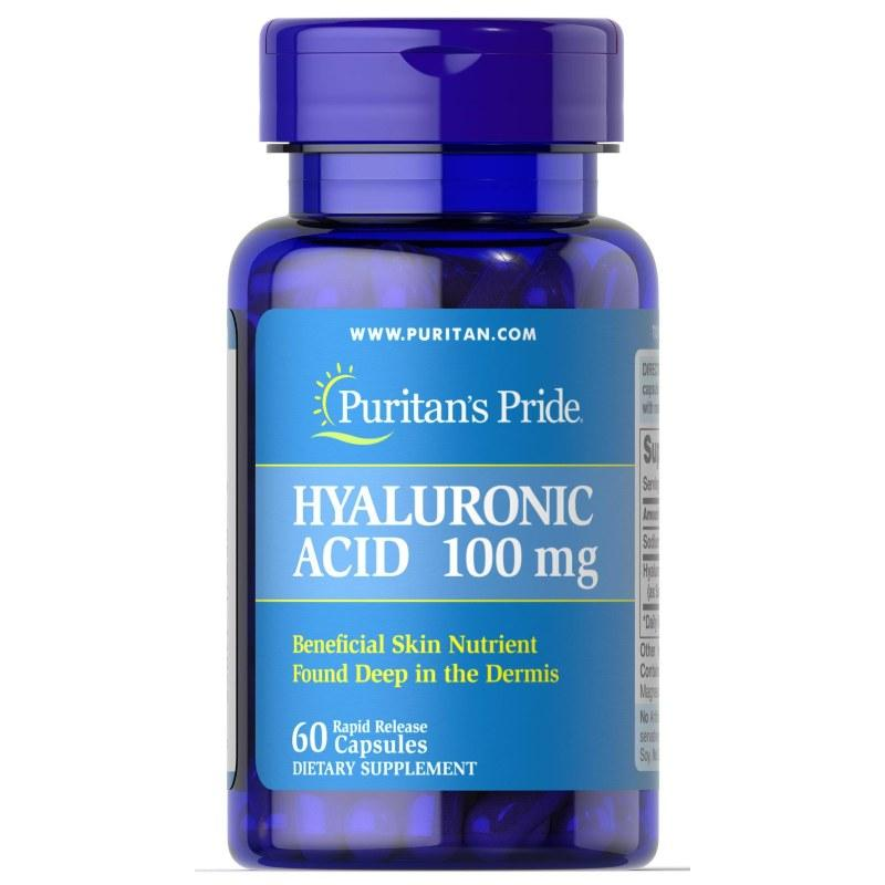Для суставов и связок Puritan's Pride Hyaluronic Acid 100 mg, 30 капсул